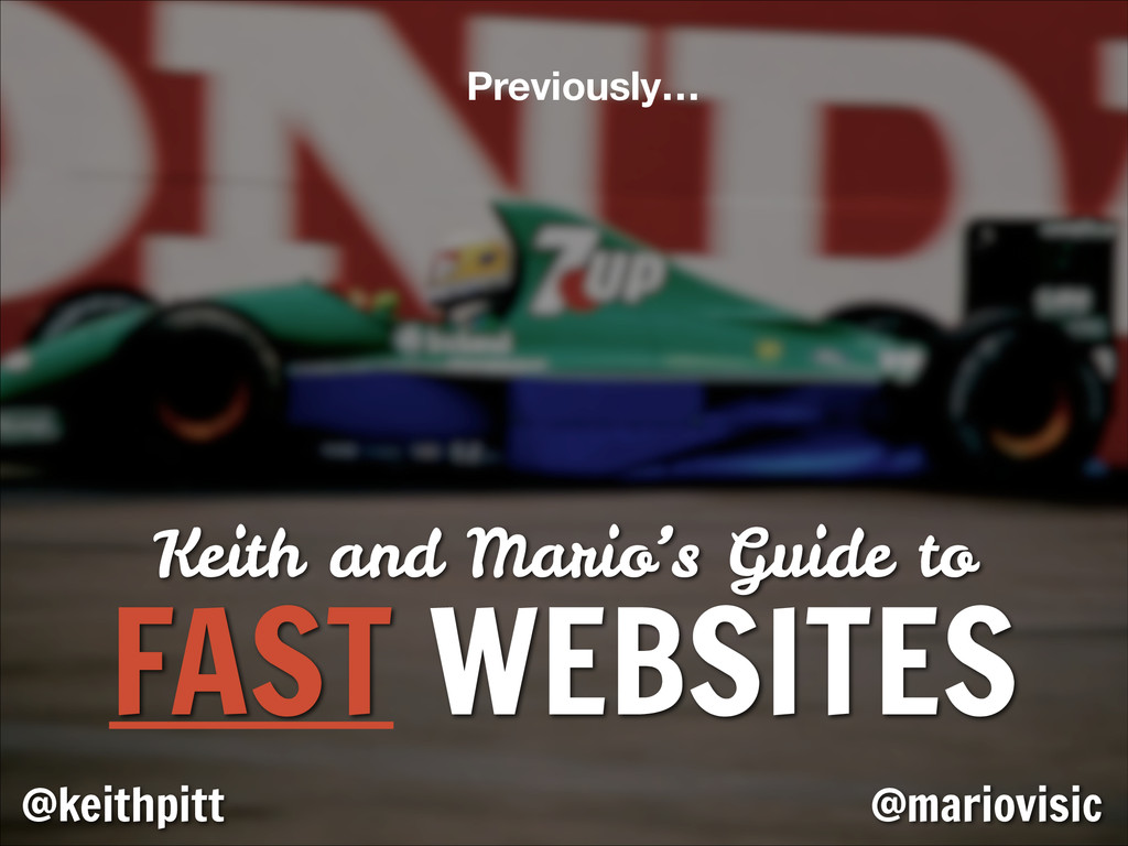 Keith and Mario's Guide to FAST WEBSITES @keith...