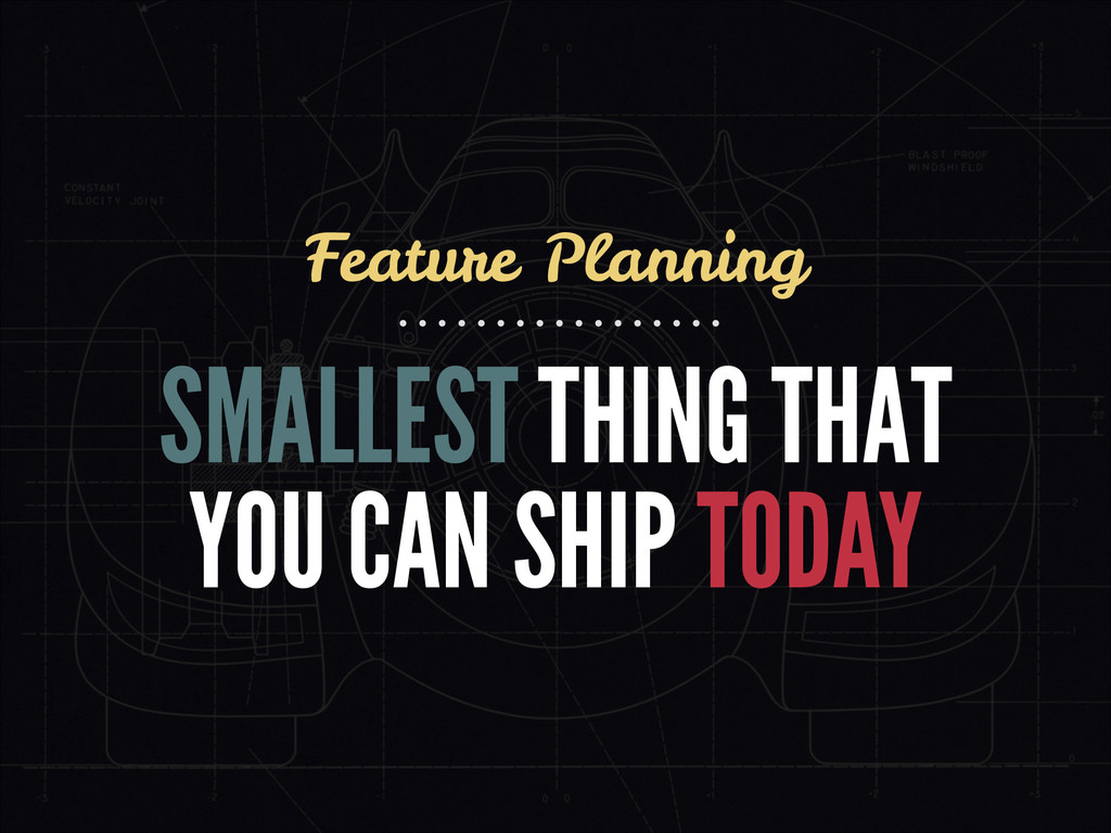 SMALLEST THING THAT YOU CAN SHIP TODAY Feature ...