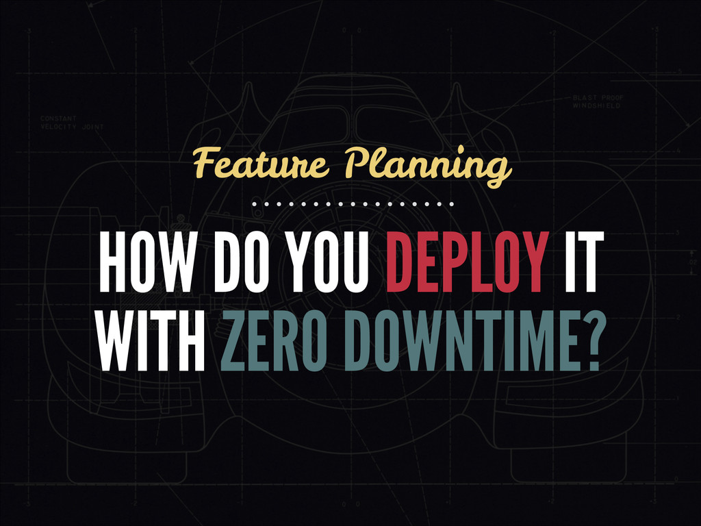 HOW DO YOU DEPLOY IT WITH ZERO DOWNTIME? Featur...