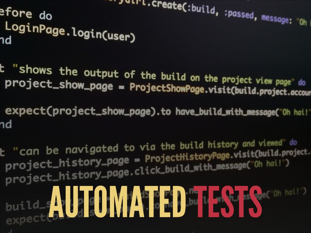 AUTOMATED TESTS