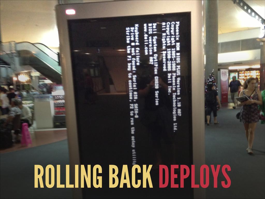 ROLLING BACK DEPLOYS