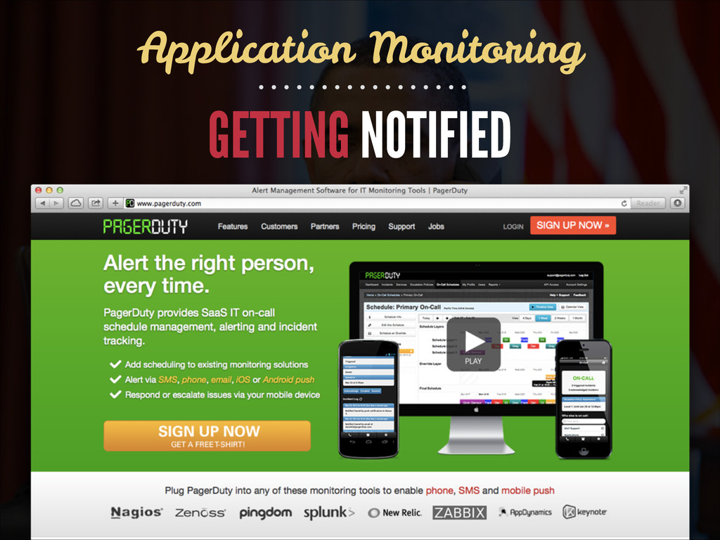 GETTING NOTIFIED Application Monitoring