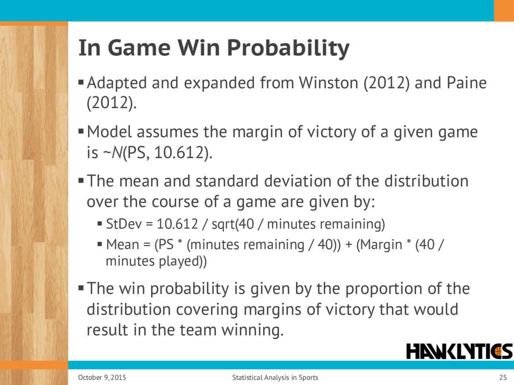 In Game Win Probability § Adapted and expanded ...