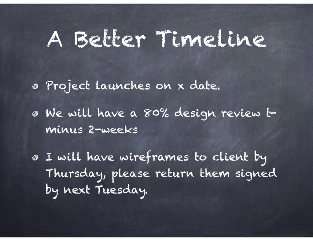 A Better Timeline Project launches on x date. W...