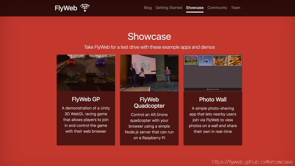 https://flyweb.github.io/#showcase
