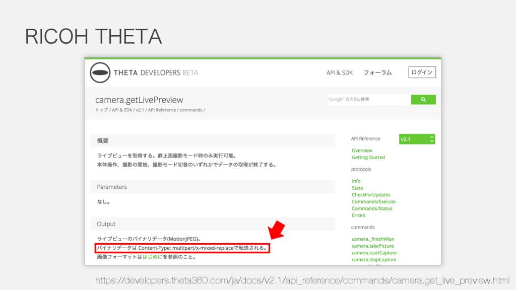 """3*$0)5)&5"""" https://developers.theta360.com/ja/..."""