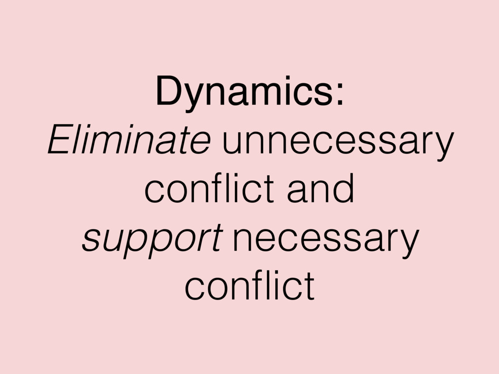 Dynamics: Eliminate unnecessary conflict and sup...