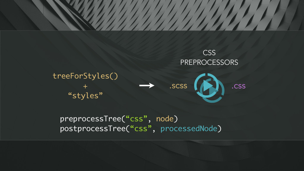 """treeForStyles() + """"styles"""" CSS PREPROCESSORS .s..."""