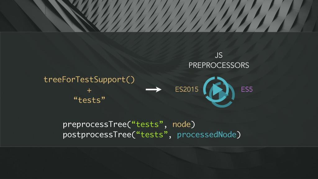 """treeForTestSupport() + """"tests"""" JS PREPROCESSORS..."""