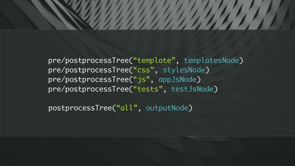"postprocessTree(""all"", outputNode) pre/postproc..."
