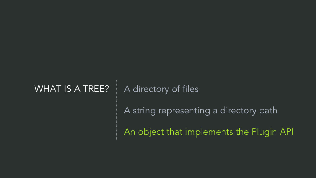 WHAT IS A TREE? A directory of files A string r...