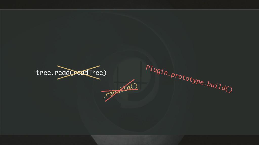 tree.read(readTree) .rebuild() Plugin.prototype...