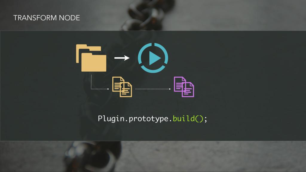 TRANSFORM NODE Plugin.prototype.build();