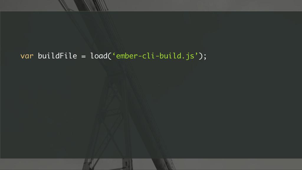 var buildFile = load('ember-cli-build.js');