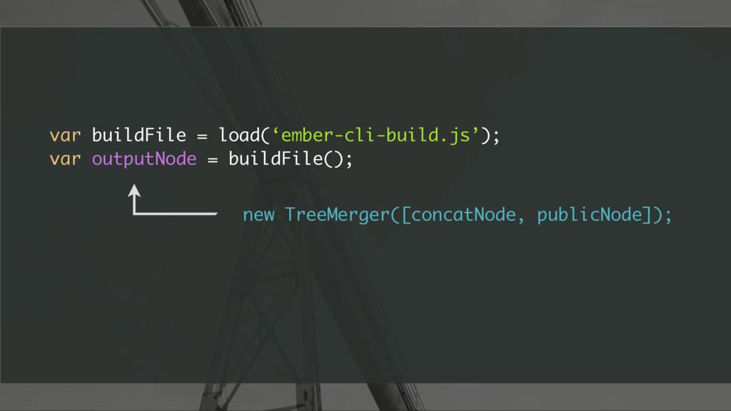 var buildFile = load('ember-cli-build.js'); var...