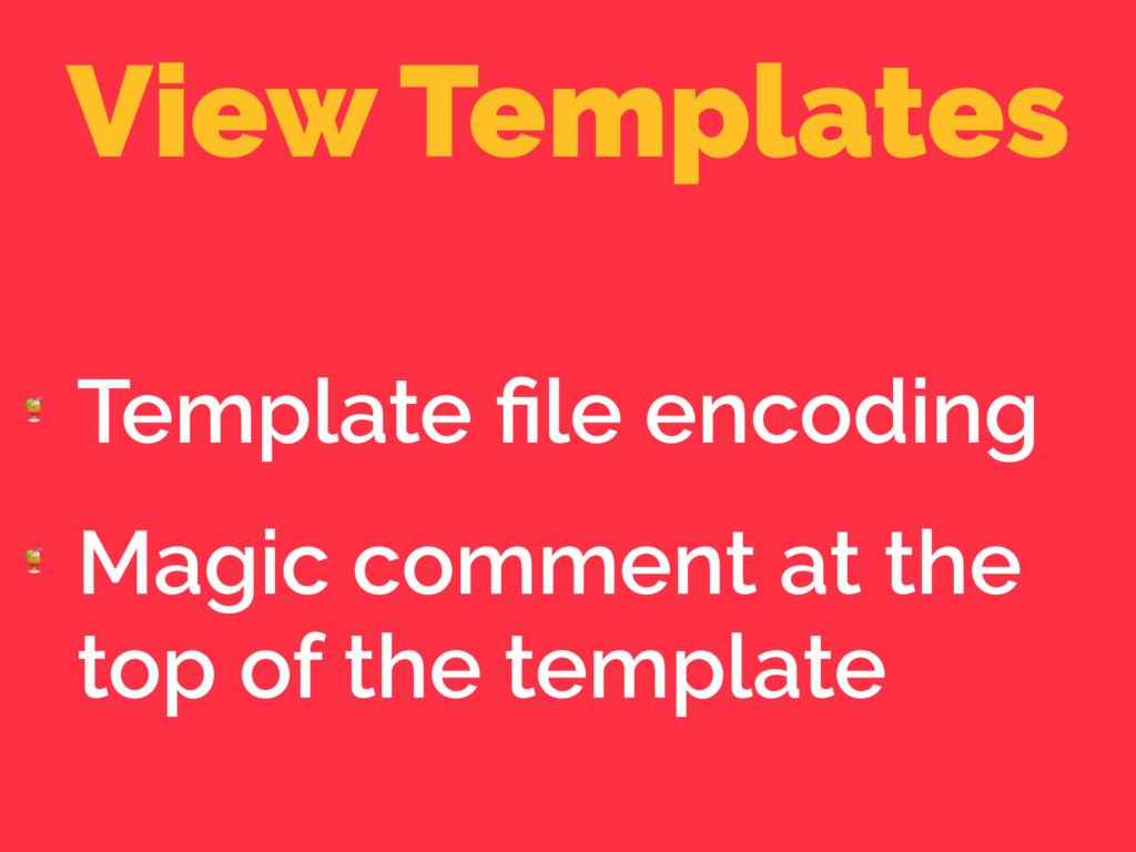 View Templates  Template file encoding  Magic co...