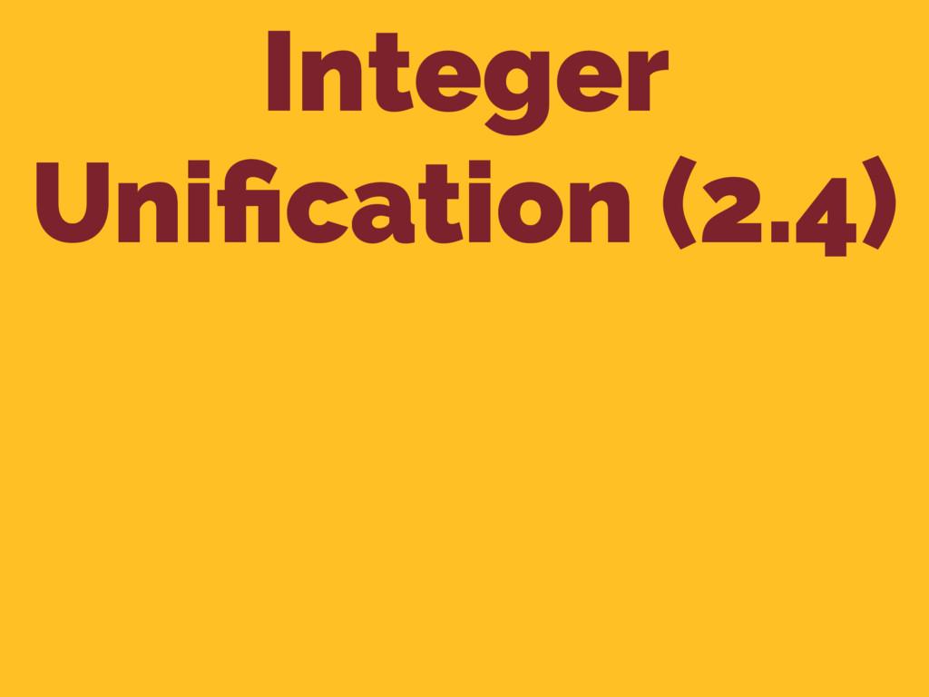 Integer Unification (2.4)