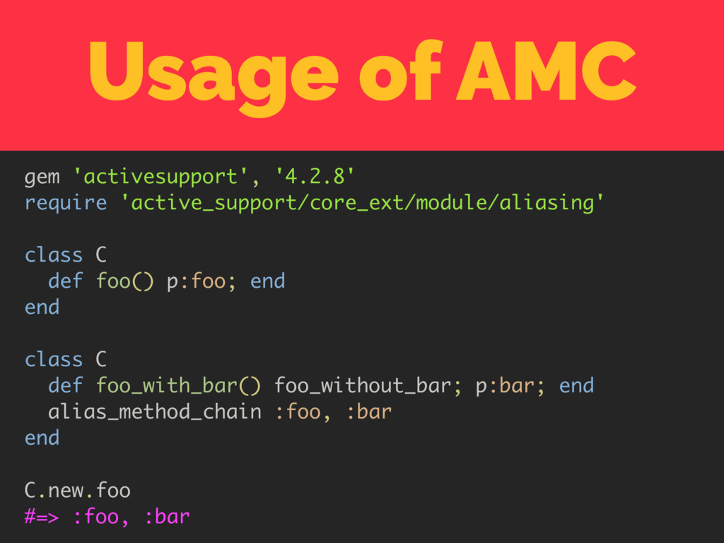 Usage of AMC gem 'activesupport', '4.2.8' requi...