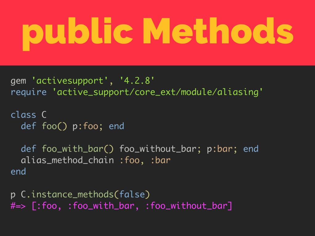 public Methods gem 'activesupport', '4.2.8' req...