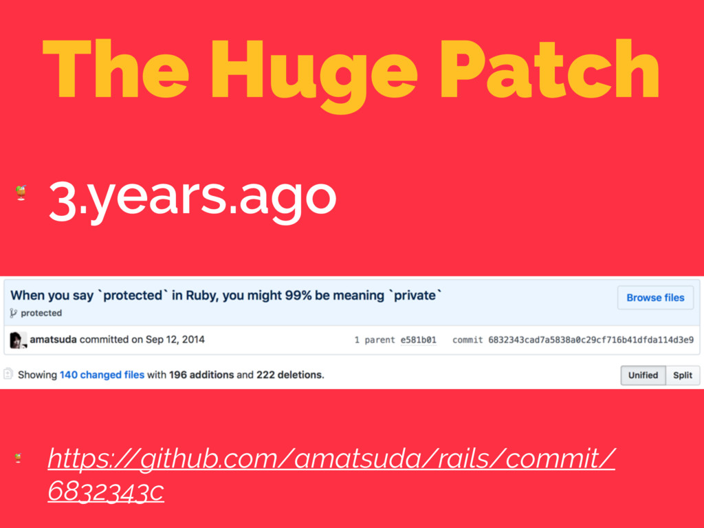 The Huge Patch  3.years.ago  https:/ /github.co...