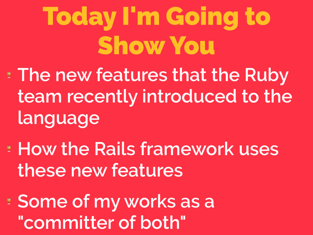 Today I'm Going to Show You  The new features ...