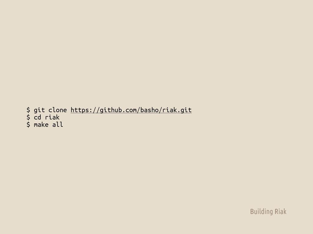 $ git clone https://github.com/basho/riak.git $...