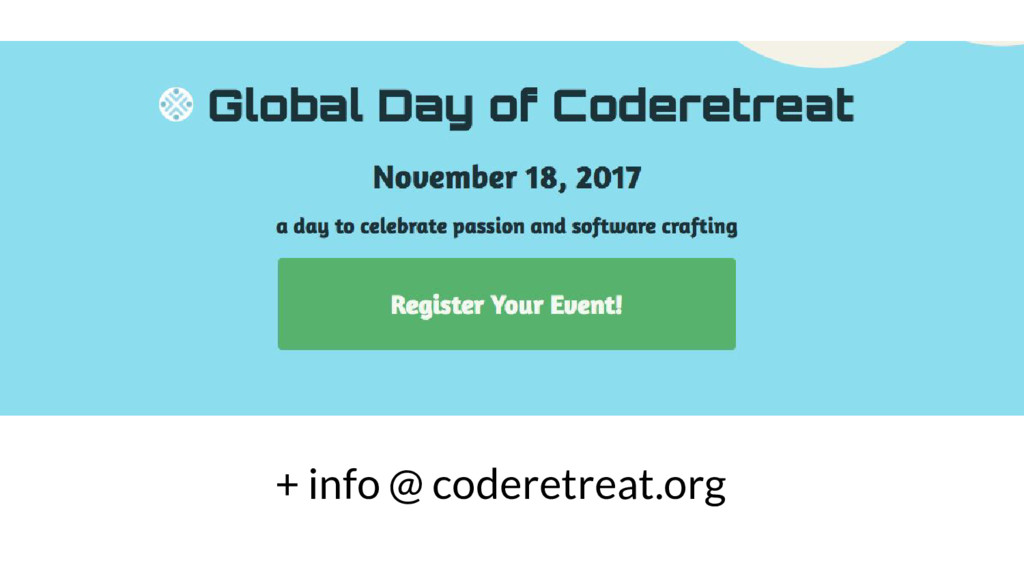 + info @ coderetreat.org