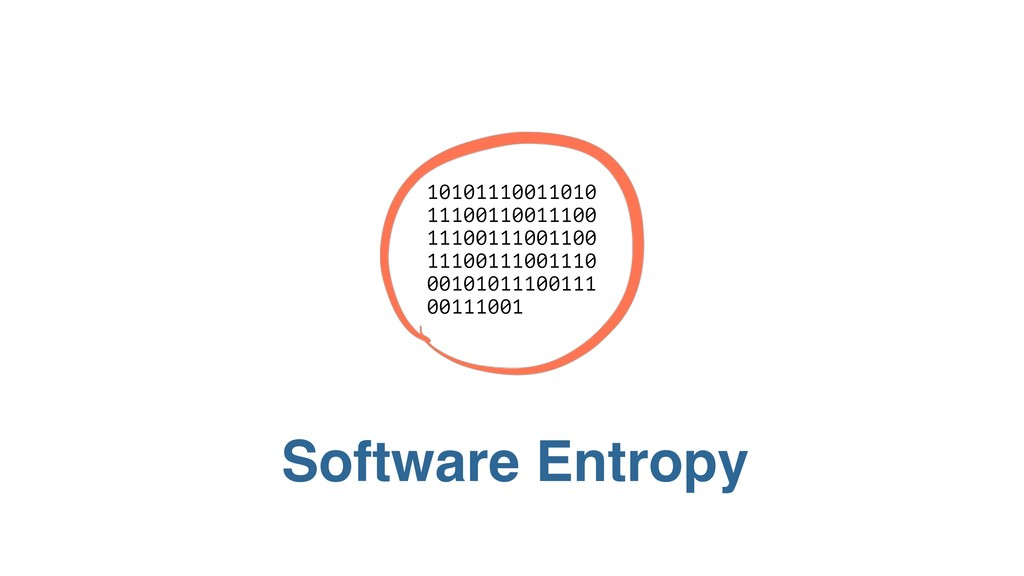 Software Entropy 10101 11001 10101110011010 111...