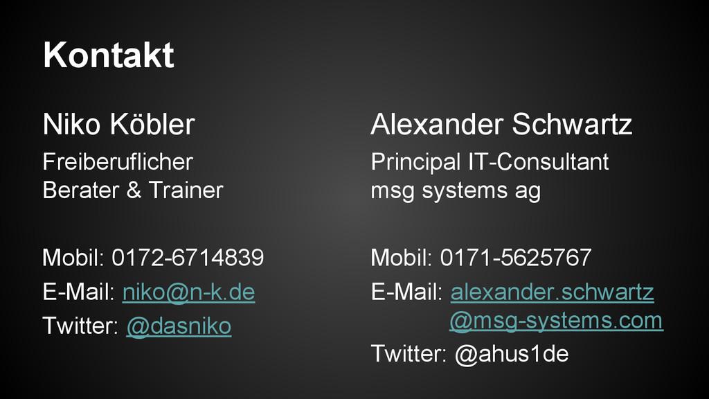 Kontakt Niko Köbler Freiberuflicher Berater & T...