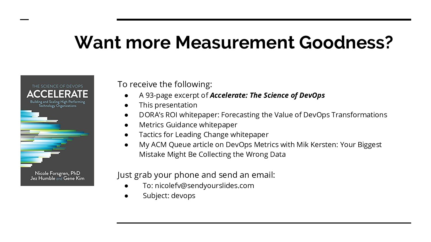Want more Measurement Goodness? To receive the ...