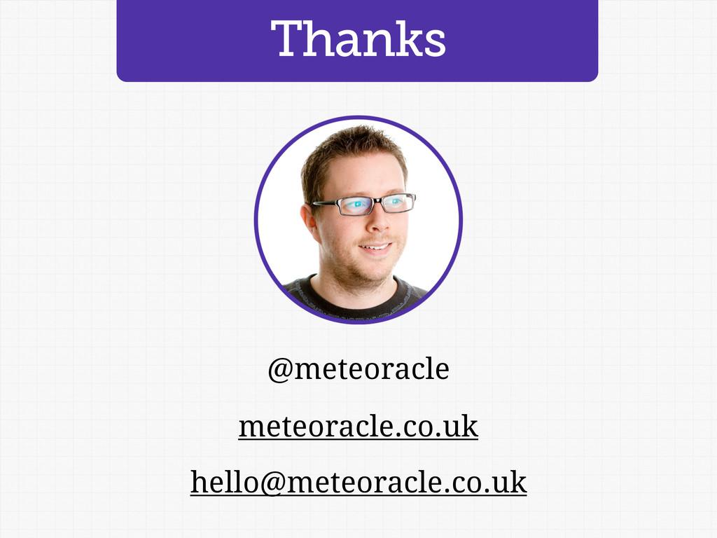 Thanks meteoracle.co.uk @meteoracle hello@meteo...