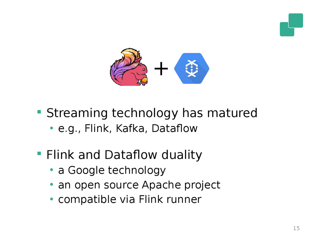 15  Streaming technology has matured • e.g., F...