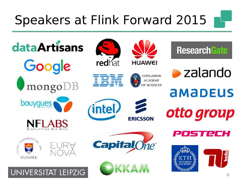Speakers at Flink Forward 2015 6