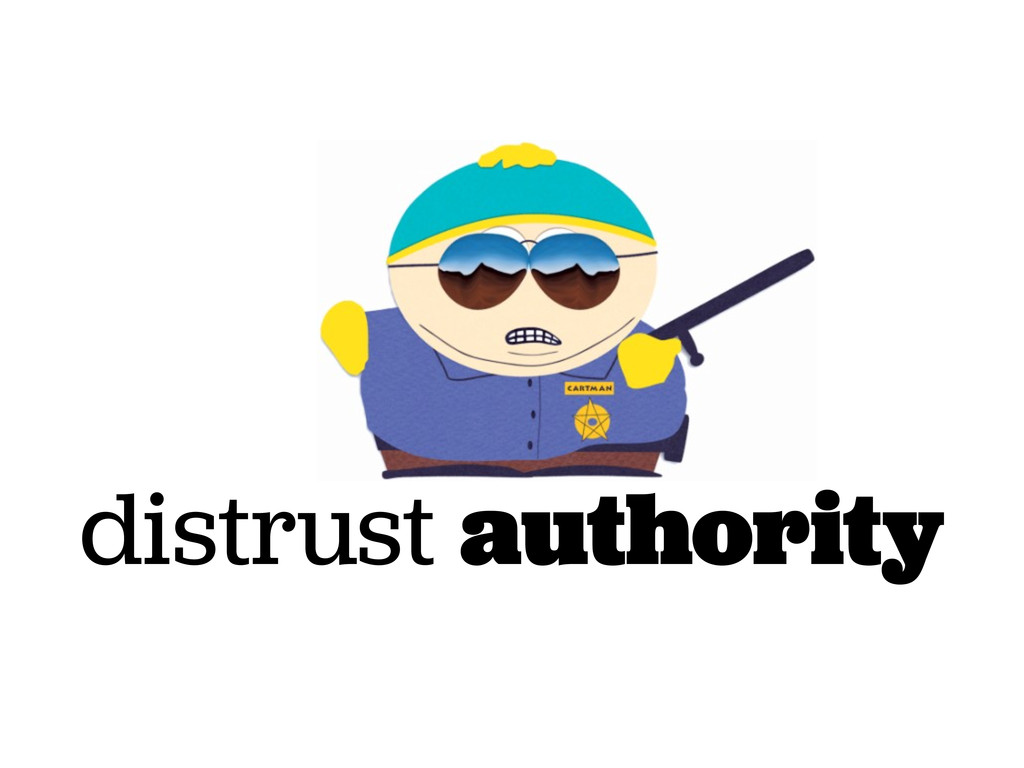 distrust authority