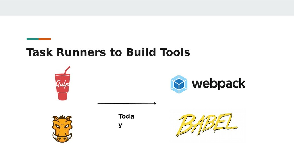 Task Runners to Build Tools Toda y