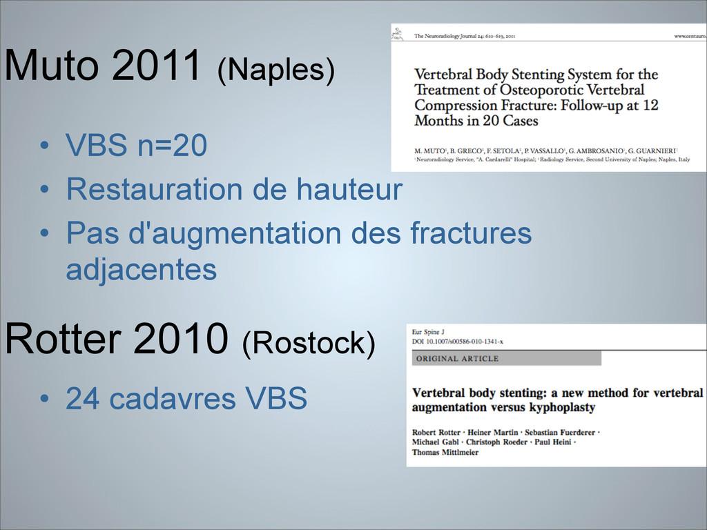 Muto 2011 (Naples) • VBS n=20 • Restauration de...