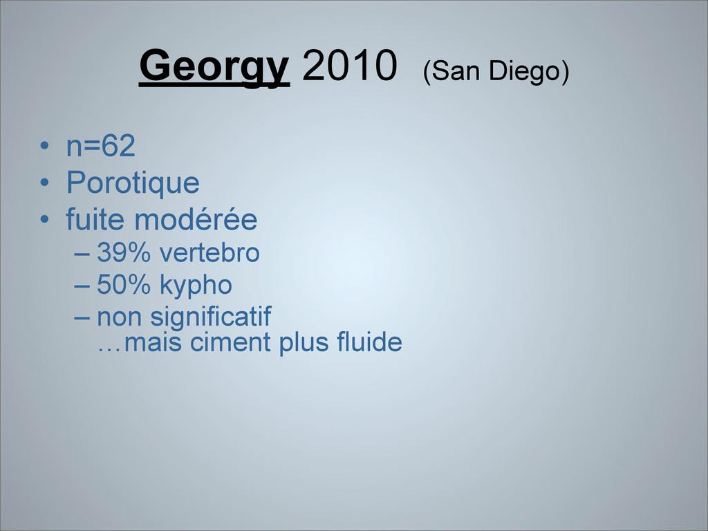 Georgy 2010 (San Diego) • n=62 • Porotique • fu...