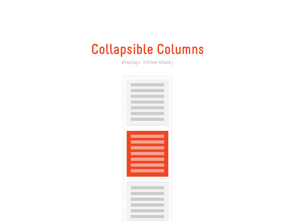 Collapsible Columns display: inline-block;