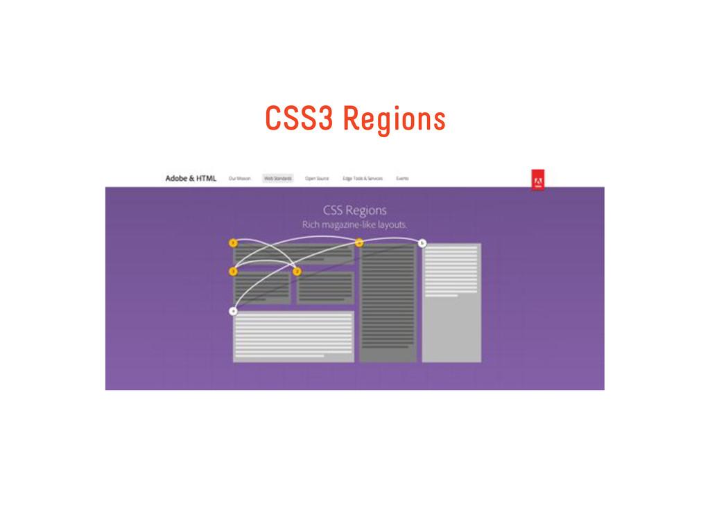 CSS3 Regions