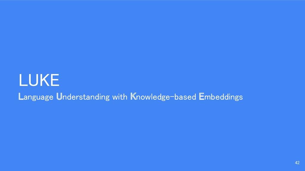 LUKE Language Understanding with Knowledge-bas...