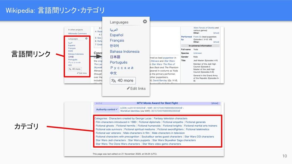 Wikipedia: 言語間リンク・カテゴリ 10 カテゴリ 言語間リンク