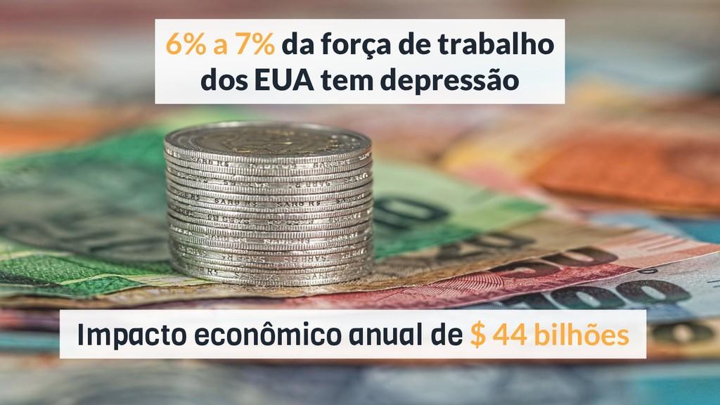 Impacto econômico anual de $ 44 bilhões 6% a 7%...