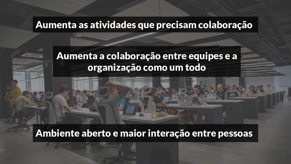 Aumenta as atividades que precisam colaboração ...