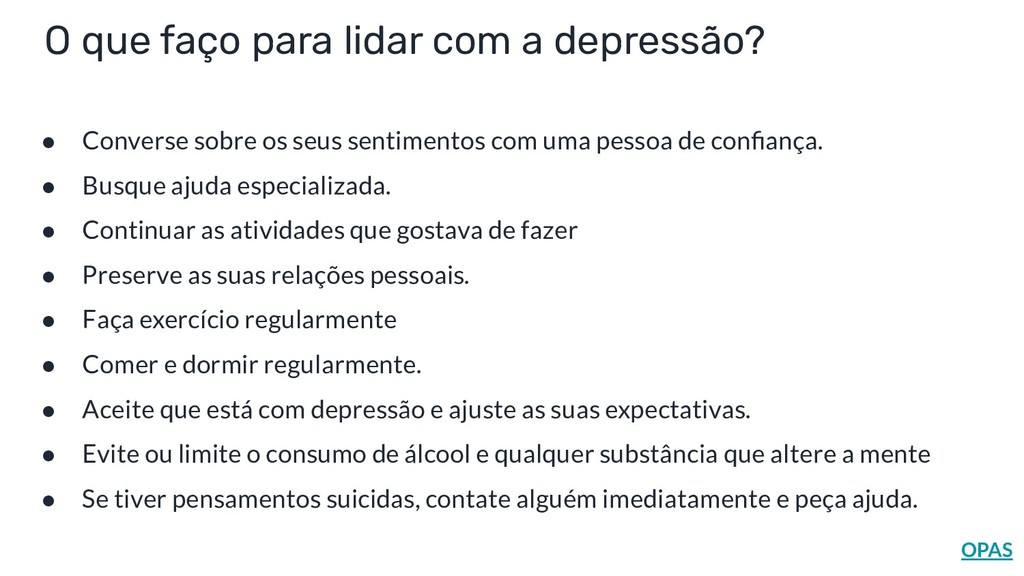 O que faço para lidar com a depressão? ● Conver...