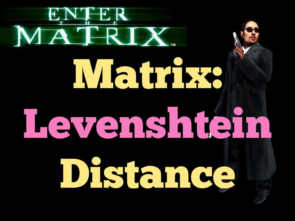 Matrix: Levenshtein Distance