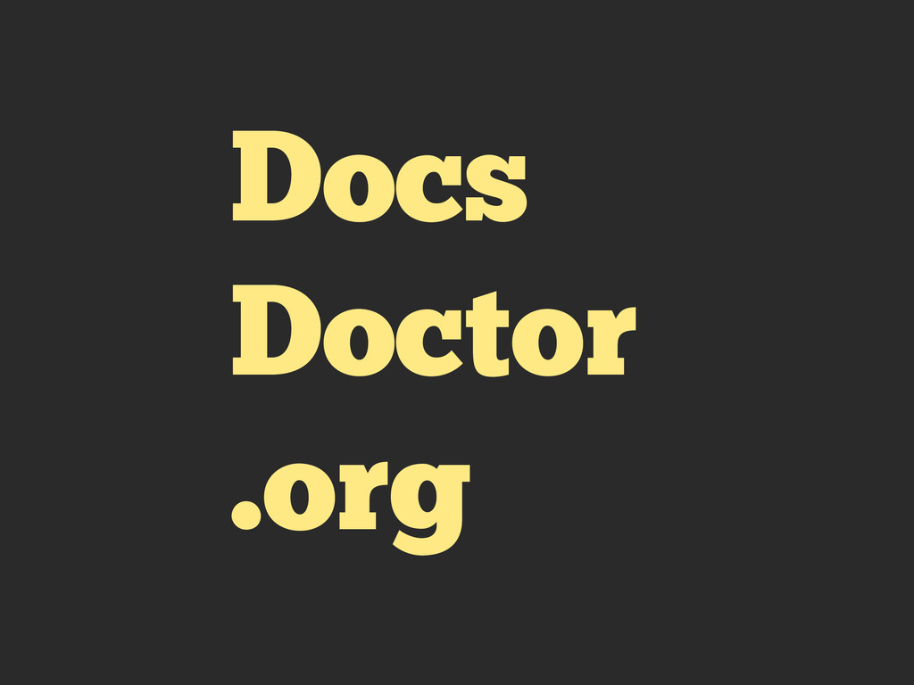 Docs Doctor .org