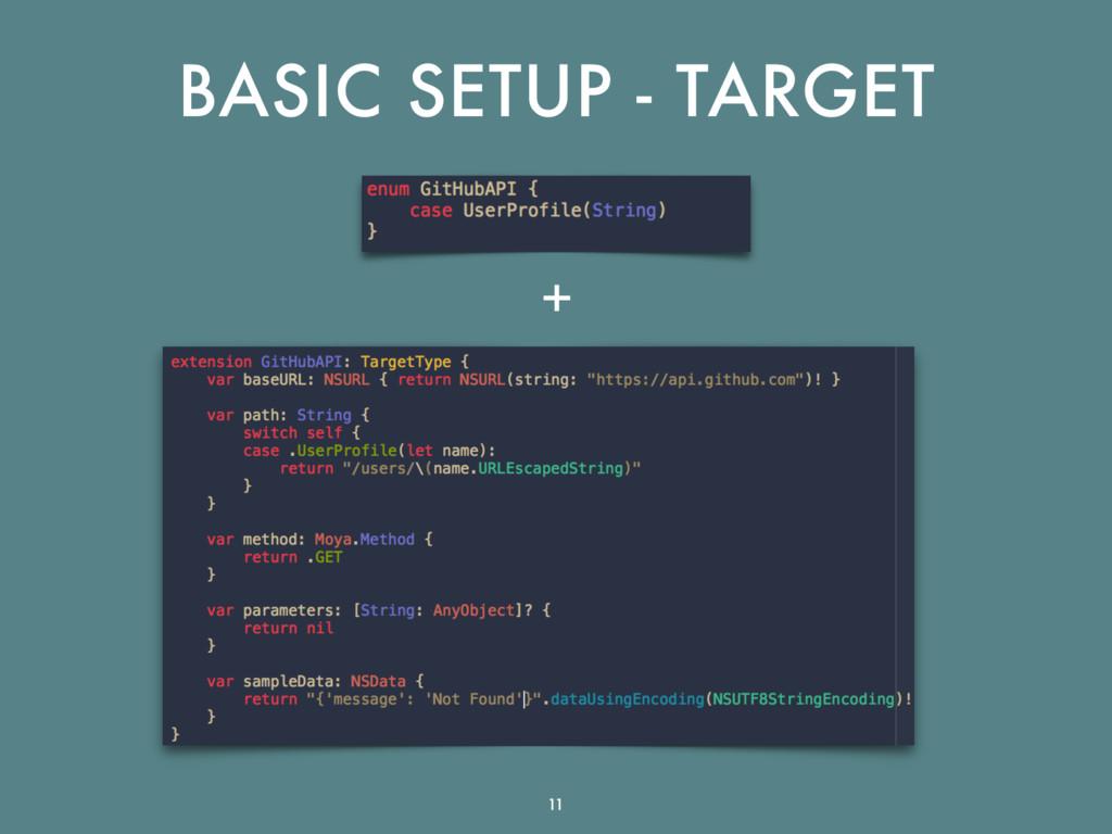 BASIC SETUP - TARGET + 11