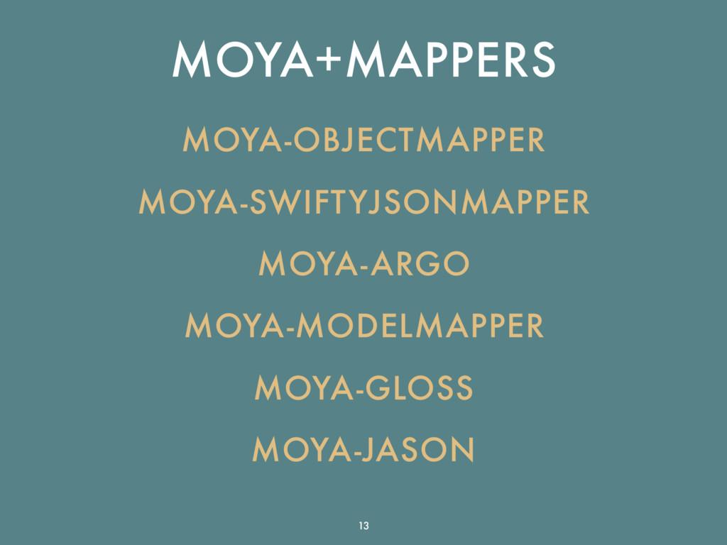 MOYA+MAPPERS MOYA-OBJECTMAPPER MOYA-SWIFTYJSONM...