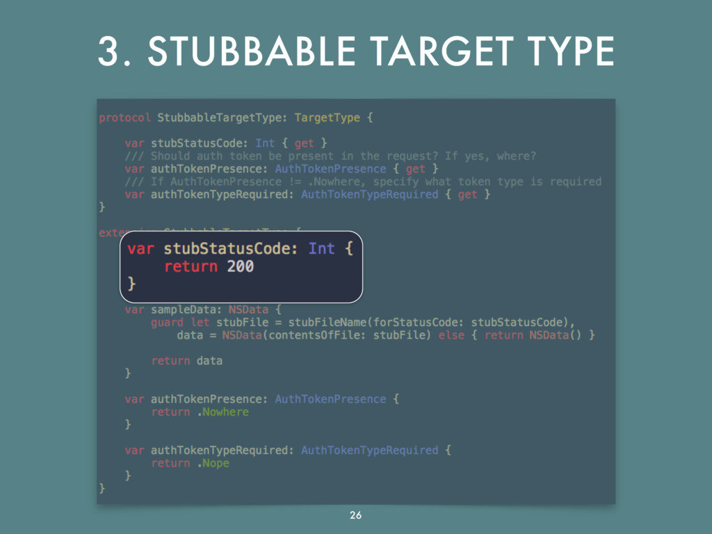 3. STUBBABLE TARGET TYPE 26