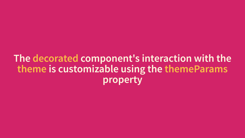 The decorated component's interaction with the ...